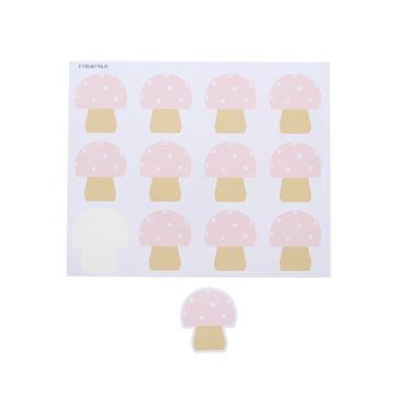 Sticker blinkend paddestoel Champy GM licht roze