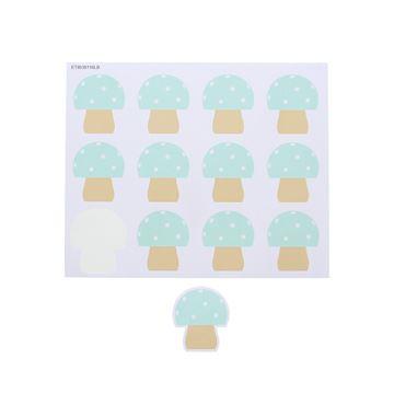Sticker blinkend paddestoel Champy GM licht blauw