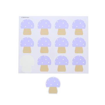 Sticker blinkend paddestoel Champy GM lavendel