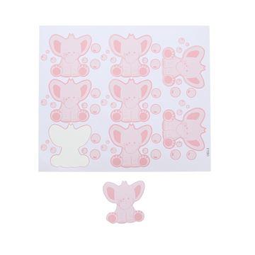 Sticker blinkend olifant Bobar GM roze