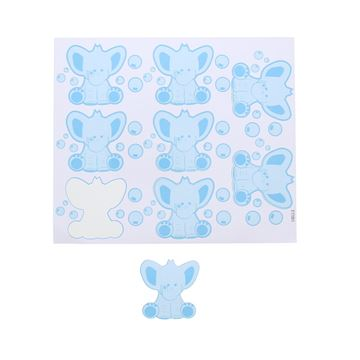 Sticker blinkend olifant Bobar GM blauw