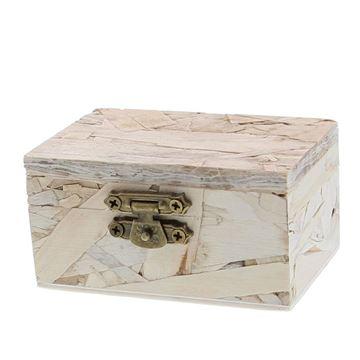 OSB rechthoekige doos met kopersluiting KM