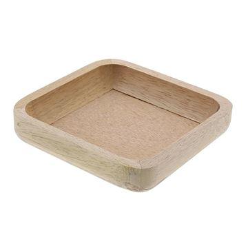 Wood schaal vierkant