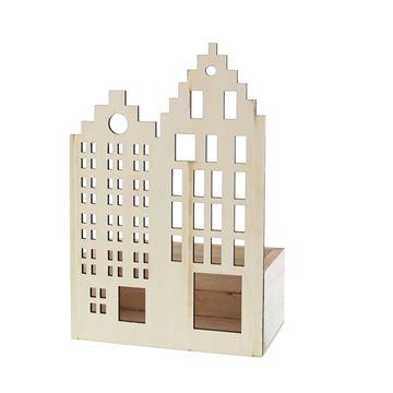 Dubbel huis Facade met rechthoekig bakje