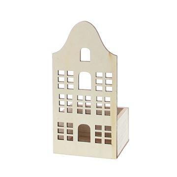 Huis Facade met vierkant bakje