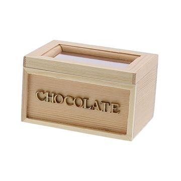 Chocolate rechthoekige doos met venster KM