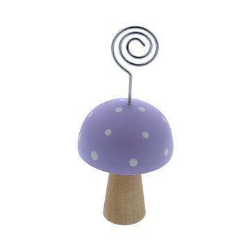 Paddestoel Champy fotoclip lavendel