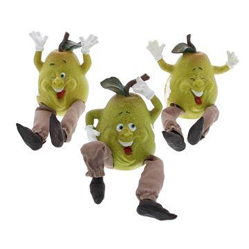 Smiley fruits slappe benen peer