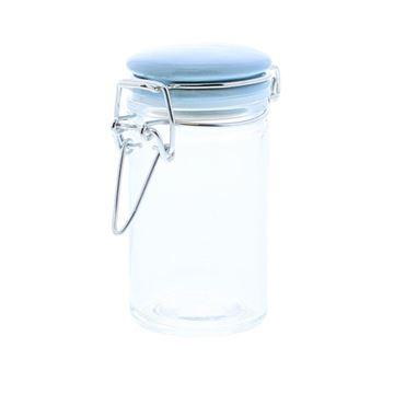 Bokaal cylinder ijzersluiting blauw