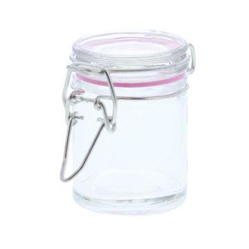 Cylinder ijzersluiting transparant KM roze