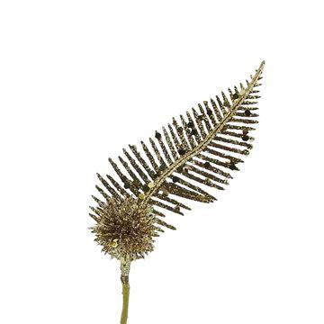 Varen blad met bol goud