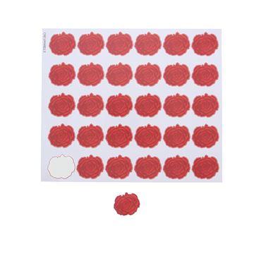 Sticker blinkend Rose KM rood