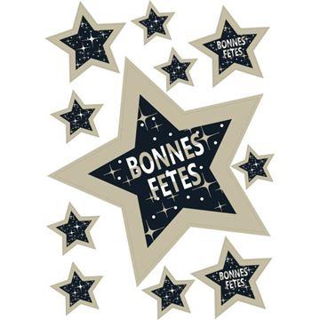 Raamsticker blinkend ster Starlight bonnes fêtes