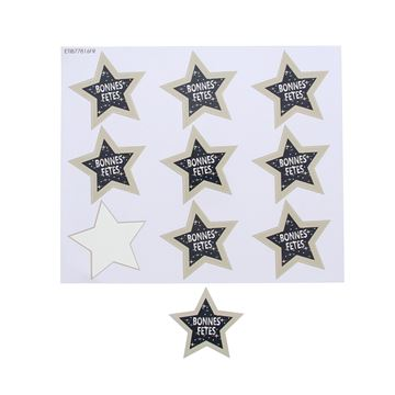 Sticker blinkend ster Starlight bonnes fêtes GM