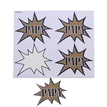 Sticker blinkend Bang papa GM