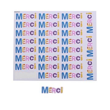 Sticker blinkend Spot merci GM