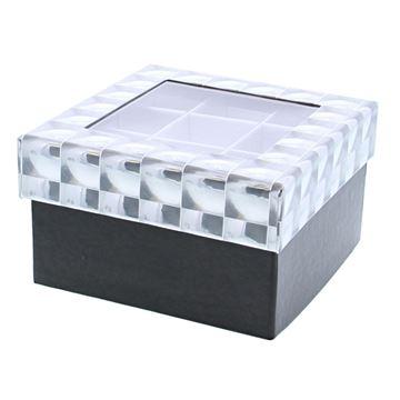 Hologram kubus 2 verdiepingen met venster zilver-zwart