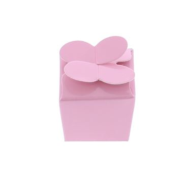 Doos vlindersluiting 1 praline licht roze