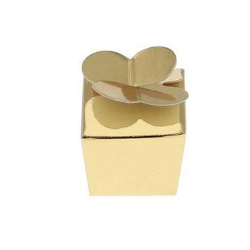 Doos vlindersluiting 1 praline goud