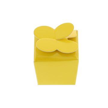Doos vlindersluiting 1 praline geel