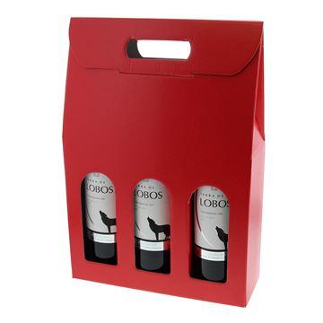 Doos 3 flessen Lino Rosso rood