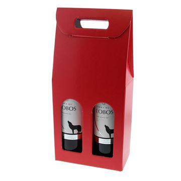 Doos 2 flessen Lino Rosso rood