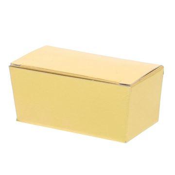 Ballotin 2 pralines goud glanzend