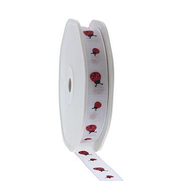 Lint Ladybird 16 mm x 15 m kleur 01 wit