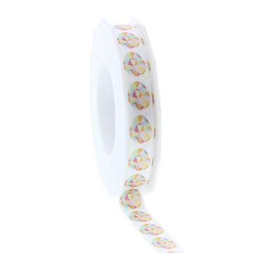 Satijnlint Gekko ei 15mmx20m kleur 140 wit