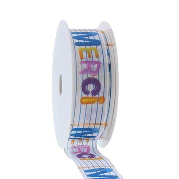 Lint met ijzerdraad Spot Merci 25mm x 20m kleur 140 wit