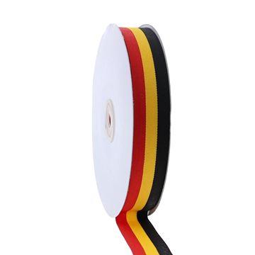 Lint Belgische vlag 25 mm x 50 m 90