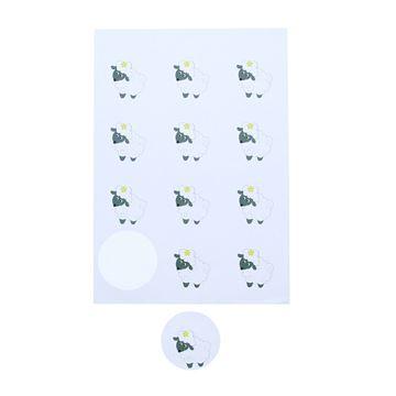 Sticker 6,35 cm schaap Babs