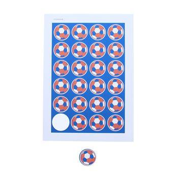 Sticker 4 cm voetbal Franse kleuren