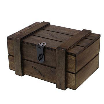 Fragile kist 500 gr. donkerbruin