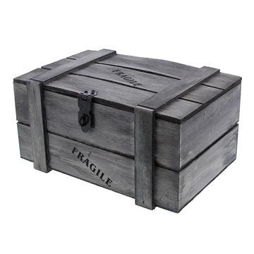 Fragile kist 1 kg. grijs