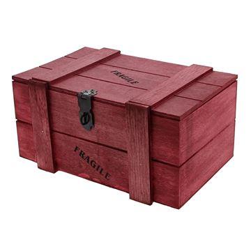 Fragile kist 1 kg. rood