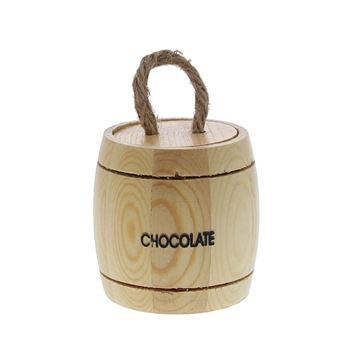 Houten vaatje Chocolate KM