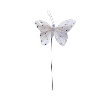 Distelvlinder op stick grijs