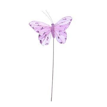 Distelvlinder op stick krokus