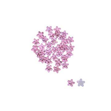 Bloem zelfklevend licht roze MINI