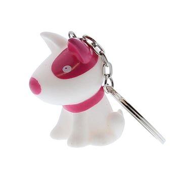 Hond Pitty sleutelhanger fuchsia