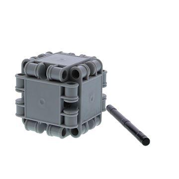 Clics voor kubus met asje grijs