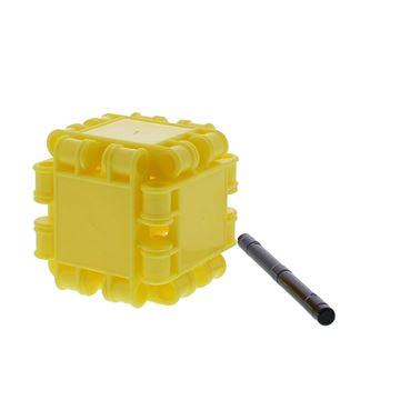 Clics voor kubus met asje geel