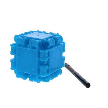 Clics voor kubus met asje glitter turquoise