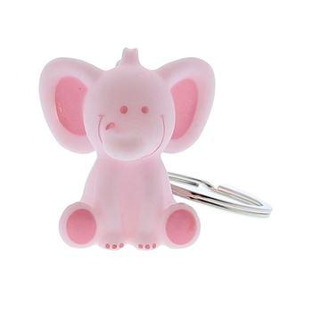Olifant Bobar sleutelhanger roze