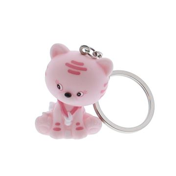 Kat Kitty sleutelhanger roze