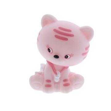 Kat Kitty met lichtje roze
