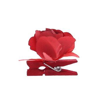 Roos op speld rood