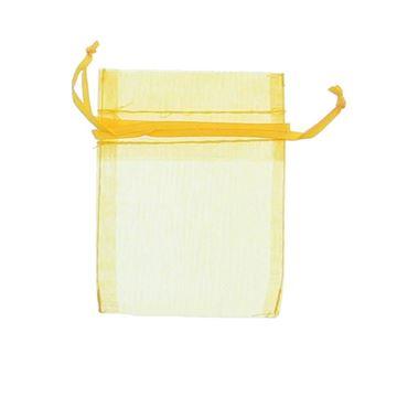 Voile zakje 10 x 7 cm geel 645