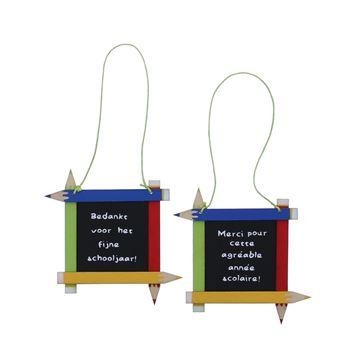 Doodles vierkant bord hanger Nederlands